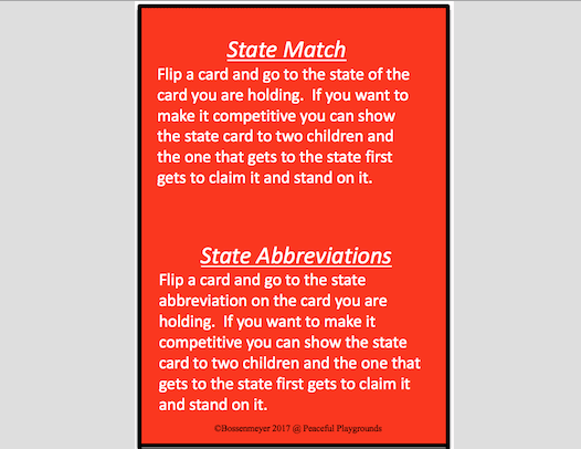 US Map Cards