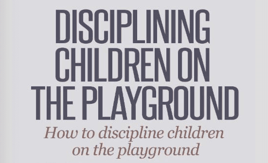 playground discipline